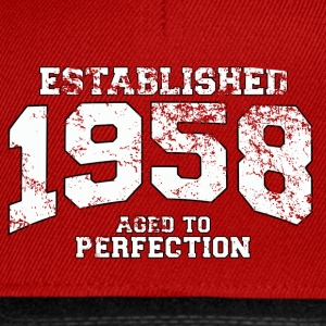 Geburtstag - established 1958 - aged to perfection - Snapback Cap