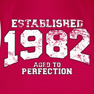 Geburtstag - established 1982 - aged to perfection - Frauen Premium T-Shirt