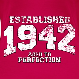 established 1942 - aged to perfection (uk) Tops - Women's Premium T-Shirt
