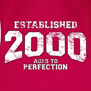 established 2000 - aged to perfection (es) Tops - Camiseta premium mujer