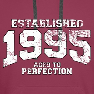 established 1995 - aged to perfection (fr) Débardeurs - Sweat-shirt à capuche Premium pour hommes