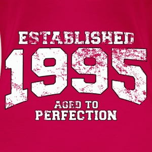 established 1995 - aged to perfection (es) Tops - Camiseta premium mujer