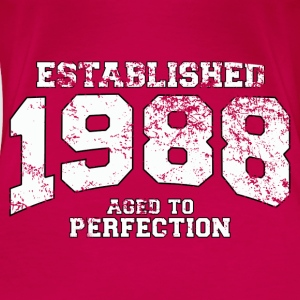 Geburtstag - established 1988 - aged to perfection - Frauen Premium T-Shirt