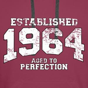established 1964 - aged to perfection (nl) Tops - Mannen Premium hoodie