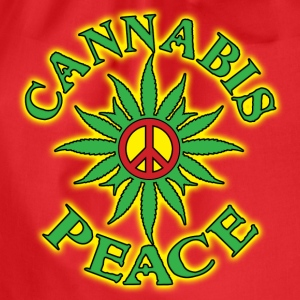 cannabis peace Topper - Gymbag