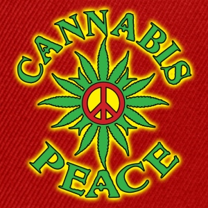 cannabis peace Topper - Snapback-caps