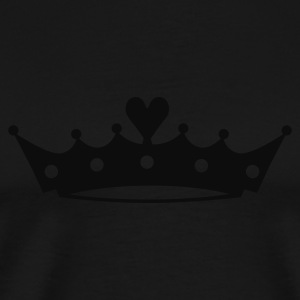Crown with Heart T-Shirts - Men's Premium T-Shirt