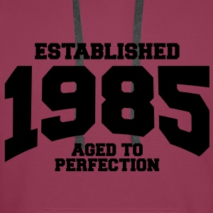 aged to perfection established 1985 (fr) Débardeurs - Sweat-shirt à capuche Premium pour hommes