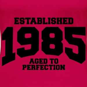 aged to perfection established 1985 (sv) Toppar - Premium-T-shirt dam