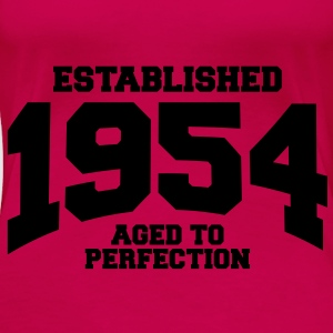 aged to perfection established 1954 (no) Topper - Premium T-skjorte for kvinner