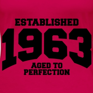 aged to perfection established 1963 (no) Topper - Premium T-skjorte for kvinner