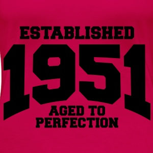 aged to perfection established 1951 (es) Tops - Camiseta premium mujer