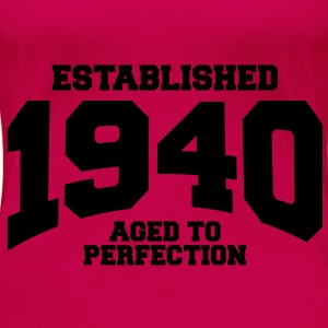 aged to perfection established 1940 (sv) Toppar - Premium-T-shirt dam