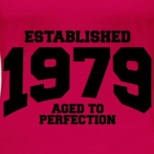 aged to perfection established 1979 (no) Topper - Premium T-skjorte for kvinner
