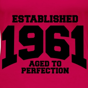 aged to perfection established 1961 (no) Topper - Premium T-skjorte for kvinner
