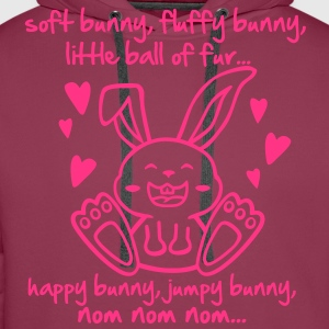 soft bunny, fluffy bunny, little ball of fur... Tops - Men's Premium Hoodie