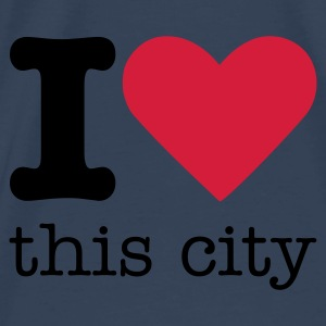 I Love This City Tops - Männer Premium T-Shirt