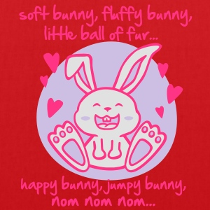 soft bunny, fluffy bunny, little ball of fur... Tops - Tote Bag