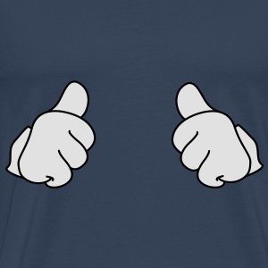 Thumbs up klassiek duimen Tops - Mannen Premium T-shirt