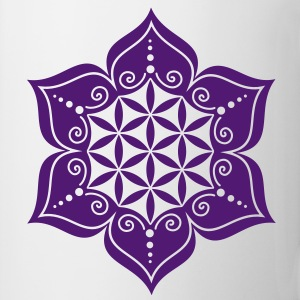 Flower of life, Lotus-Flower, vector, c, energy symbol, healing symbol Toppe - Kop/krus