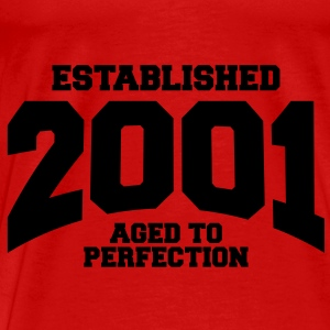 aged to perfection established 2001 (sv) Toppar - Premium-T-shirt herr