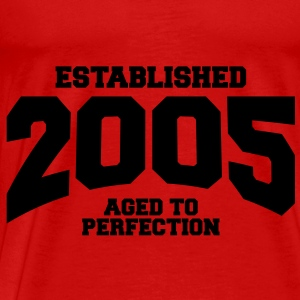 aged to perfection established 2005 (uk) Tops - Men's Premium T-Shirt