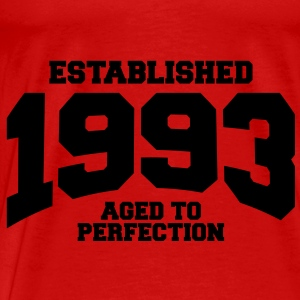 aged to perfection established 1993 (no) Topper - Premium T-skjorte for menn