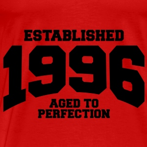 aged to perfection established 1996 (no) Topper - Premium T-skjorte for menn
