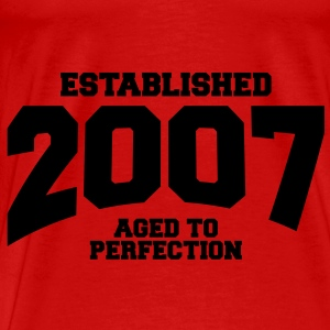 aged to perfection established 2007 (no) Topper - Premium T-skjorte for menn