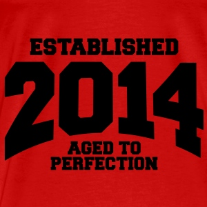 aged to perfection established 2014 (no) Topper - Premium T-skjorte for menn