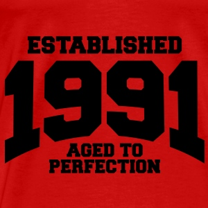 aged to perfection established 1991 (sv) Toppar - Premium-T-shirt herr
