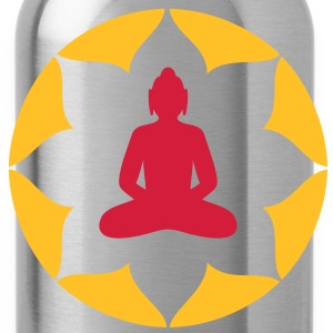 Buddha Statue Meditation Buddhism T-Shirts - Water Bottle