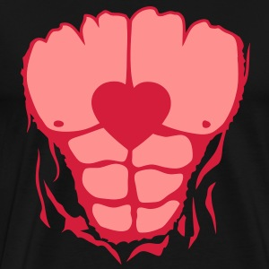 coeur corps muscle dechire muscu body Tee shirts - T-shirt Premium Homme