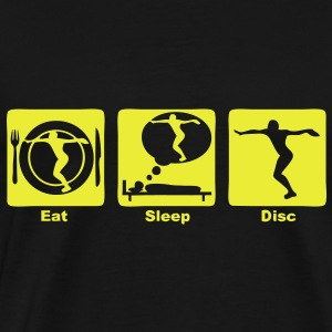 lancer disque disc eat sleep play  Tee shirts - T-shirt Premium Homme