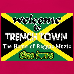 welcome to trench town the home of reggae muzic Débardeurs - T-shirt Premium Femme