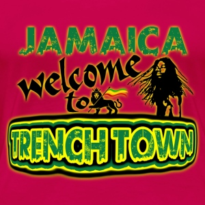 jamaica welcome to trench town Tops - Vrouwen Premium T-shirt