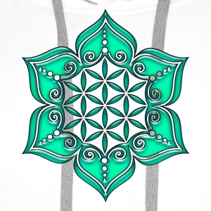 Flower of life, Lotus - Flower, Heart Chakra, green, Symbol of perfection and  Tops - Men's Premium Hoodie