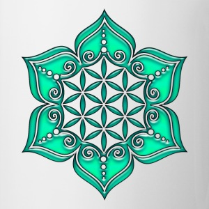 Fleur de Vie - Flower of life, Lotus - Flower, Heart Chakra, green, Symbol of perfection and  Débardeurs - Tasse