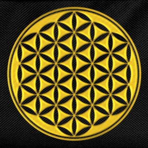 fiore della vita - Flower of life - gold - sacred geometry - power of balancing and energizing, energy symbol Top - Zaino per bambini