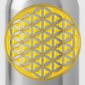 fiore della vita - Flower of life - gold - sacred geometry - power of balancing and energizing, energy symbol Top - Borraccia