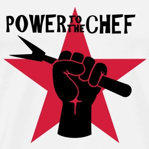 power to the chef ( 2c) Tops - Männer Premium T-Shirt