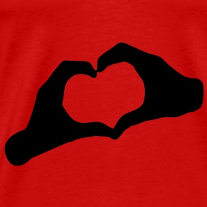 Romantic Top - Hands Heart - Men's Premium T-Shirt