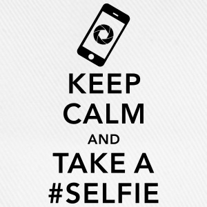 funny Keep calm take a selfie #selfie meme phone T-Shirts - Baseballkappe