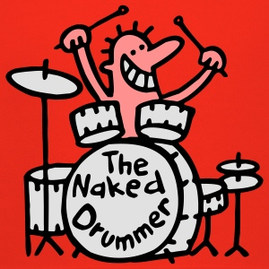 the naked drummer 3farben T-Shirts - Kinder Premium Hoodie
