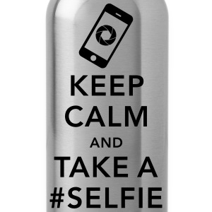 funny Keep calm take a selfie #selfie meme phone Sudaderas - Cantimplora