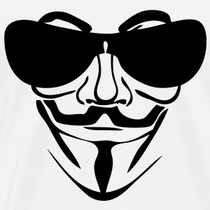 anonymous masque mask lunette glass sol7 Tee shirts - T-shirt Premium Homme