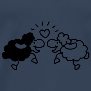 Little love sheep Topper - Premium T-skjorte for menn