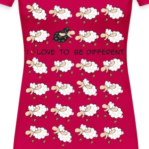 I love to be different Top - Maglietta Premium da donna