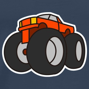 Digital - Extreme Monster Truck Sport Hot Cars Damage Jeep Cross Pickup Van Toppar - Premium-T-shirt herr