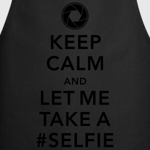 funny Keep calm take a selfie #selfie meme geek Tee shirts - Tablier de cuisine